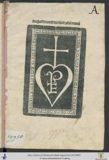 Augustinus de virtute psalmor[um]