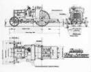 Pflugschlepper, 45 PS, Konstruktionszeichnung (Daimler)