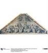 Kirchenlehrer und Ordensstifter. Karton zu den Fresken der Ludwigskirche in München