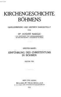 Einführung des Christentums in Böhmen. 1