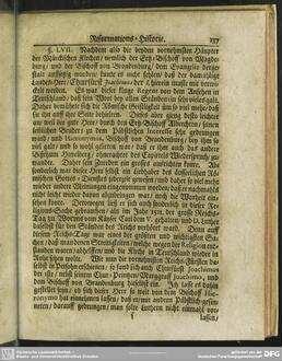 [§ LVII. Wie Chur-Fürst Joachimus I. endlich mit in diesen Religions-Streit gezogen, und mit Luthero zu Worms eine Unterredung gehalten?]