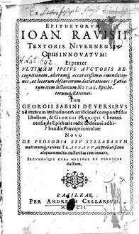 Epithetorum opus absolutissimum