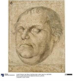 Kopf des toten Luther