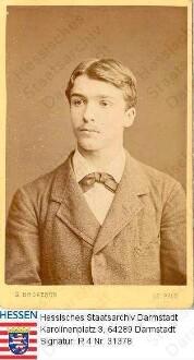 Thiersch, Justus, Dr. med. (1859-1937) / Porträt als junger Mann, Brustbild, rechtsvorblickend