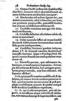 Ordinatio Pro Studiis Svperioribvs Ex Deputatione, quae de illis habita est in Congregatione nona Generali : A R. P. N. Francisco Piccolomineo ad Prouincias missa Anno 1651