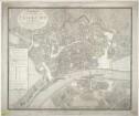 Plan von Frankfurt (Main), 1:3 300, Radierung, 1811