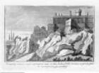 Veteris Latii antiquitatum amplissima collectio: ... Volumen secundum. 5 Teile., 3. Teil: Lanuvinorum, et Ardeatinorum Rudera, Tafel XV: Prospectus arduae Rupis, & murorum Ardeae