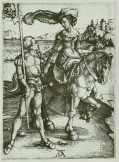 Das Fräulein zu Pferd und der Landsknecht