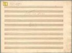 Symphonies, orch, KV 19, D-Dur - BSB Mus.ms. 1583 : [dust cover title:] Sinfonia // à 2 Violini // 2 Hautbois // 2 Corni // Viola // e // Basso [on the right:] di Wolfgango Mozart // à Londron 1765