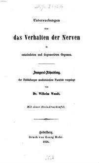Untersuchungen über das Verhalten der Nerven in entzündeten und degenerirten Organen : Inaugural-Abhandlung