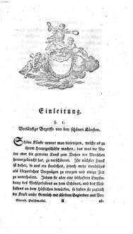 Grundbegriffe zur Philosophie über den Geschmack. 1. (1785). - XVI, 236 S.