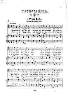 Volkslieder-Album : 80 Volkslieder für eine Singstimme mit Clavierbegleitung