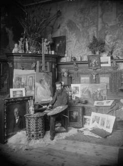 Künstleratelier August Frind (1852- ), Genre- und Historienmaler
