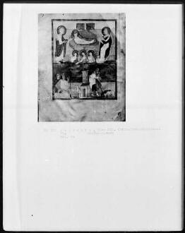 Perikopenbuch — Geburt Christi und Verkündigung an die Hirten, Folio 1verso