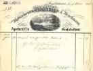 Rechnung des Apothekers L. Bruckmann aus Großbottwar mit Ortsansicht