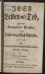 Jesu Leiden und Tod, aus dem Evangelisten Matthäo, in den Hamburgischen Kirchen, 1758, nebst hinzugefügten poetischen Zwischensätzen, musicalisch verkündiget von Telemann