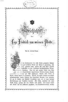 ˜Dieœ Freimaurerei im Oriente von Hannover : Erinnerungsblätter an die Feste vom 14. und 15. Januar 1857