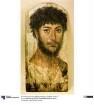 Mumienporträt eines bärtigen Mannes