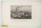 Ansicht der Maschinenfabrik von Maffei, Stahlstich, um 1850?