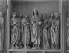Windsheimer Apostelaltar — Altar im geöffneten Zustand — Mittelschrein: Christus und sechs Apostel