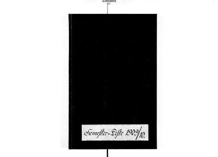 Schüler-Präsenz-Liste, Schuljahr 1909/10