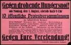 """""""Gegen drohende Hungersnot!"""" Aufruf zu öffentlichen Protestveranstaltungen im Raum Stuttgart"""