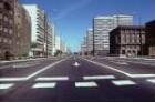 Berlin-Mitte, Leipziger Straße. Straße mit mehrspuriger Fahrbahn sowie mit Alt- und Neubauten