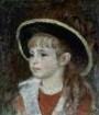 Mädchen mit blauem Hut