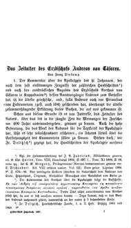Das Zeitalter des Erzbischofs Andreas von Cäsarea
