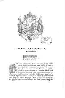 ˜Theœ castles and abbeys of England : from the national records, early chronicles, and other standard authors ; illustrated by upwards of two hundred engravings. [2]
