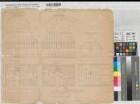 Südlohn (Südlohn) - Entwurf des Schulhauses - Grundrisse, Ansichten - 1847 - 40 Fuß = 13,25 cm - 43 x 51 - Zeichnung - Lachnicht, Baumeister, Ramsdorf - Regierung Münster Nr. 13379
