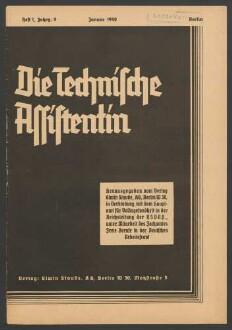 Die Technische Assistentin Jahrgang 9 (1942) 1-12