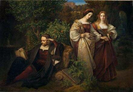 Carl Ferdinand Sohn, Tasso und die beiden Leonoren, 1839, Museum Kunstpalast, Düsseldorf, Inv.-Nr. M 4079, Foto: Horst Kolberg, Neuss