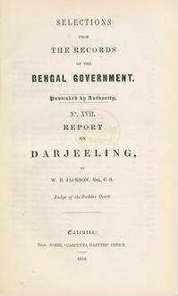Report on Darjeeling