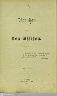 Preussen vor den Assisen