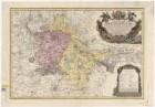 Karte vom Fürstentum Breslau, 1:120 000, Kupferstich, 1736