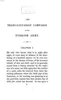 ˜Theœ Trans-Caucasian Campaign of the Turkish army under Omer Pasha