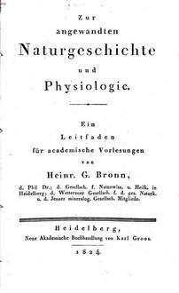 Zur angewandten Naturgeschichte und Physiologie : Ein Leitfaden für academische Vorlesungen