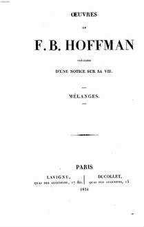 Oeuvres : précédées d'une notice sur sa vie. 3. Mélanges. - 1834
