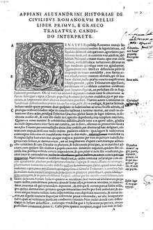 De civilibus Romanorum bellis historiarum : l. V.