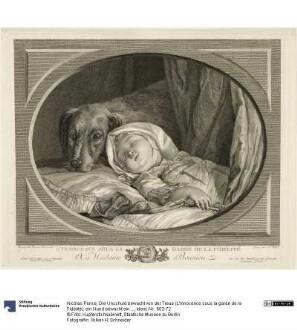 Die Unschuld bewacht von der Treue (L'Innocence sous la garde de la Fidélité): ein Hund bewacht ein schlafendes Kleinkind
