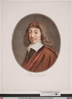 Bildnis René Descartes (lat. Renatus Cartesius)