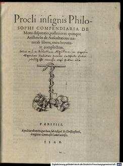 Compendiaria de motu disputatio posteriores quinque Aristotelis de auscultatione naturali libros complectens