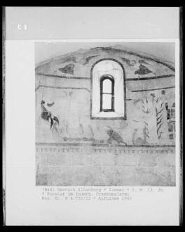 Fenster im Innern. Freskomalerei