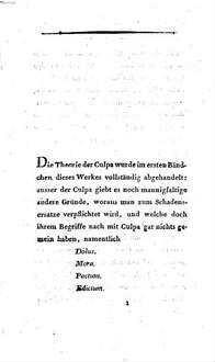 Lehre vom Schadensersatze. 2, Dolus, mora, pactum, edictum, idquod interest, casus