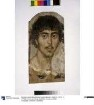 Mumienporträt eines bärtigen jungen Mannes