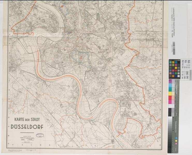 Düsseldorf Karte.Düsseldorf Düsseldorf Stadtplan 1940 1 20 000 122 X 84