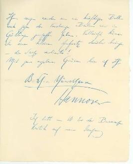 3.Seite des Briefes von Börris Freiherr von Münchhausen