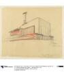 Luckenwalde, Neubau der Hutfabrik Friedrich Steinberg, Herrmann & Co. Skizze zum Kessel- und Turbinenhaus - Perspektive, vom Kohlenhof aus gesehen