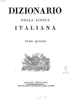 Dizionario della lingua Italiana. 5, N, O, P, Q, R